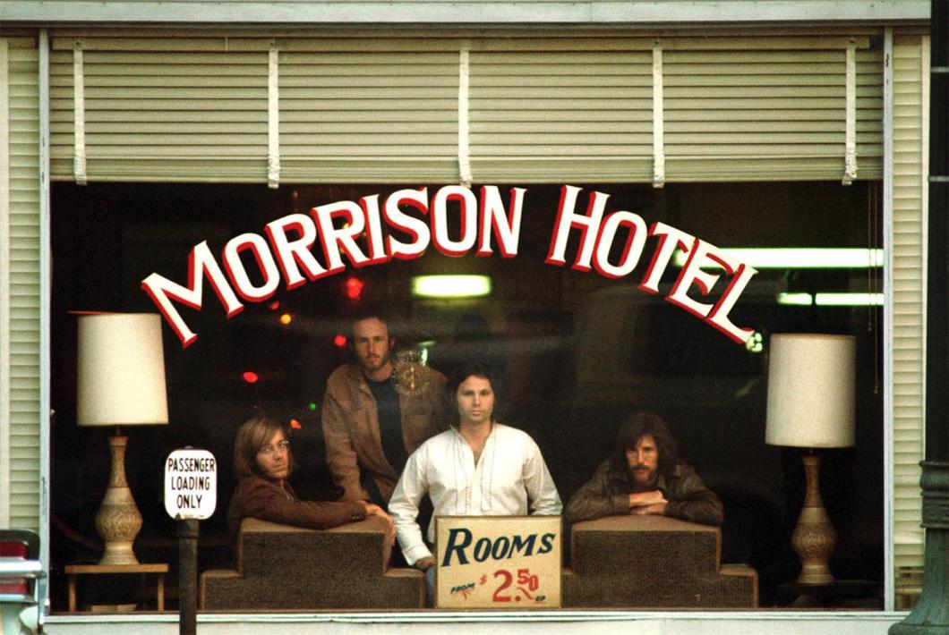 Foto a partir da qual a capa do disco Morrison Hotel foi feita