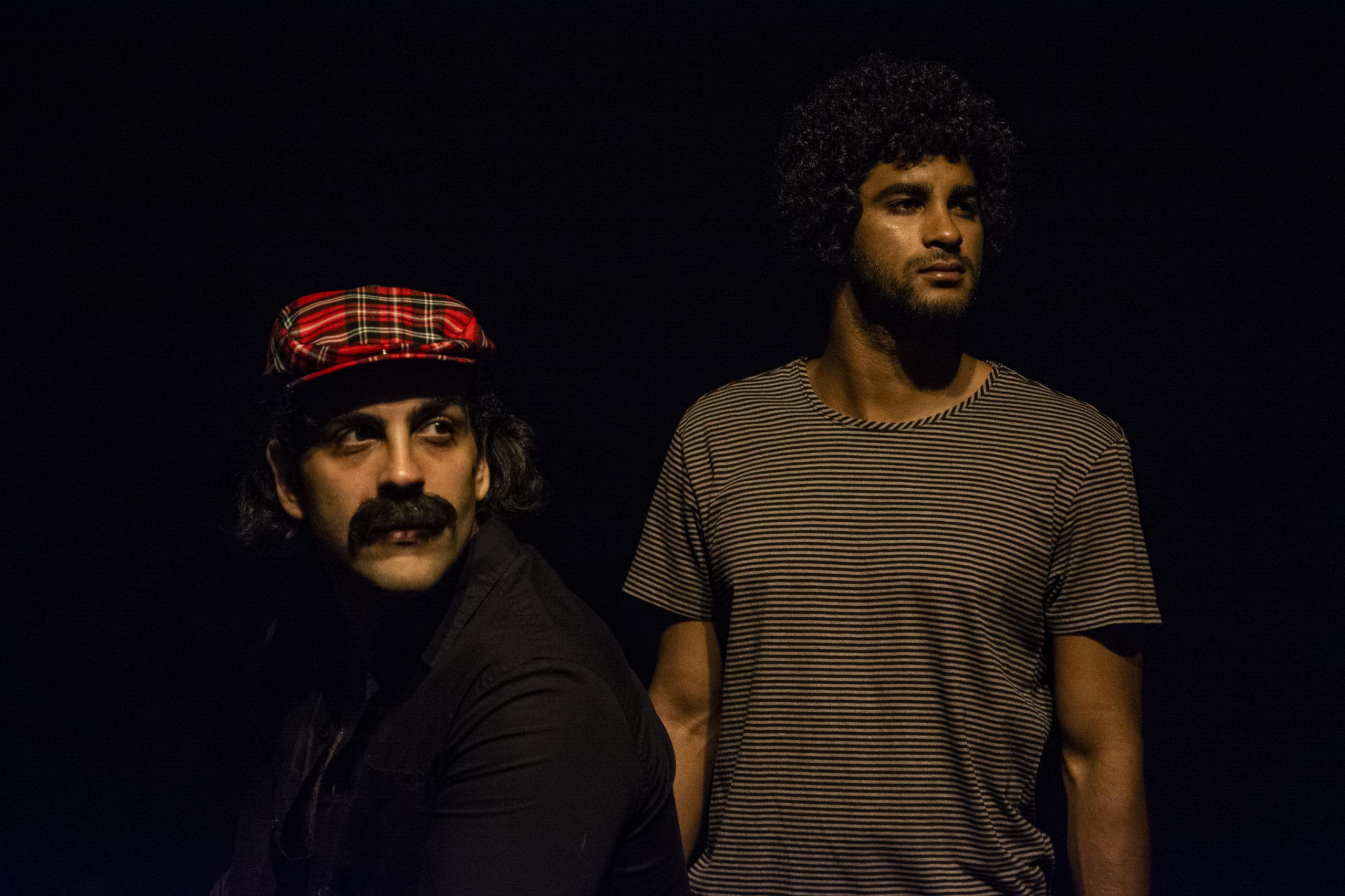 Atores do musical Belchior: Pablo Paleologo e Bruno Suzano