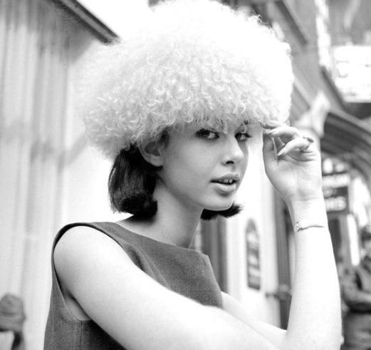 Linda Keith, modelo da Vogue e uma das principais incentivadoras da carreira de Jimi Hendrix